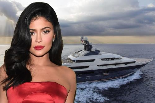 Kylie Jenner birthday party on the mega yacht Tranquility